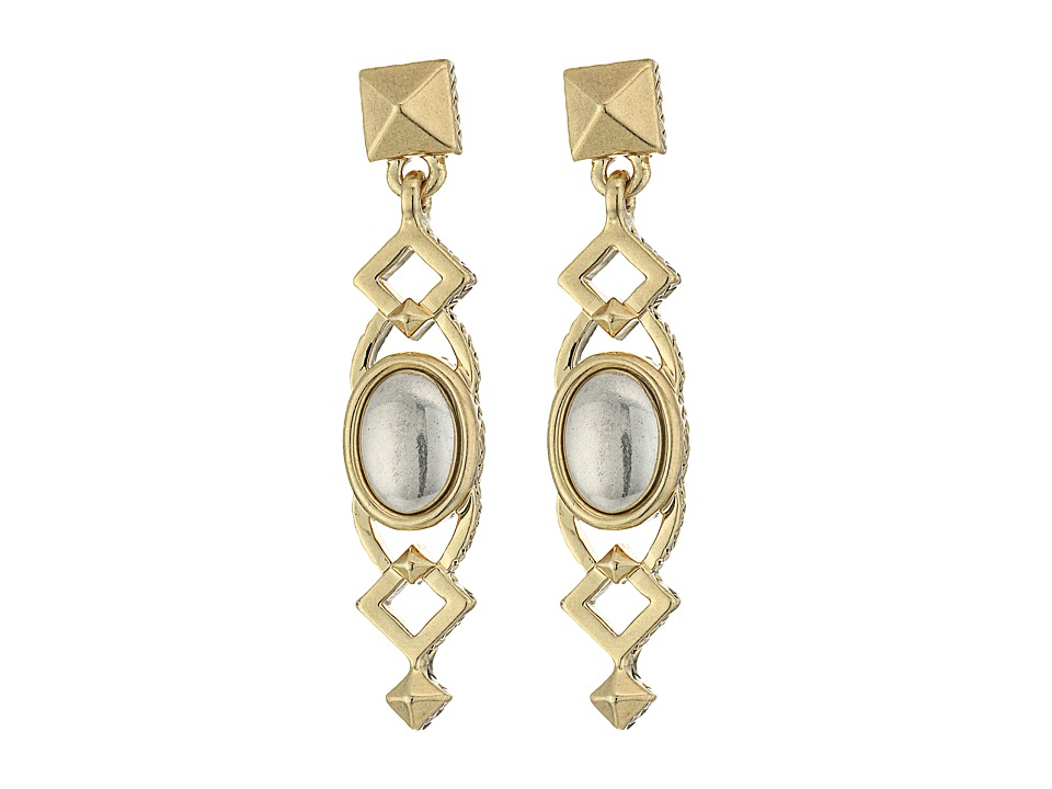 House of Harlow 1960 - Lady Grace Drop Earrings (Silver) Earring