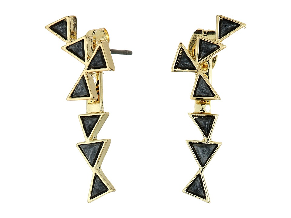 House of Harlow 1960 - Astrea Ear Jacket Earrings (Hematite) Earring