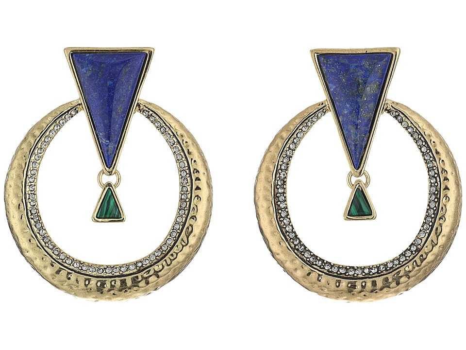 House of Harlow 1960 - Hymn Selene Earrings (Lapis) Earring