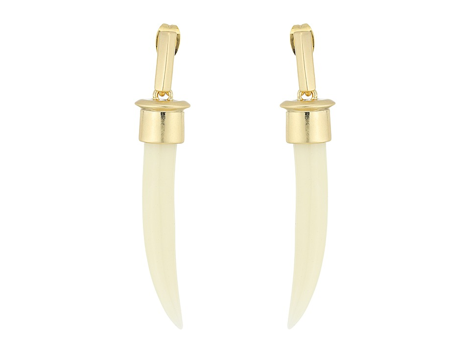 House of Harlow 1960 - Horns of Catoblepas Drop Earrings (Ivory/Gold) Earring