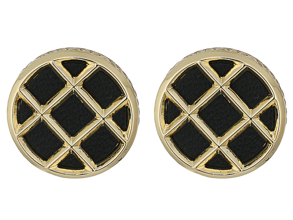 House of Harlow 1960 - Phoebe Caged Button Earrings (Black) Earring