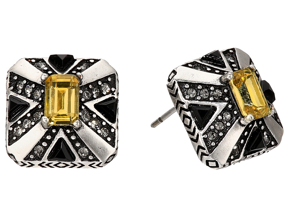 House of Harlow 1960 - Art Deco Stud Earrings (Silver) Earring