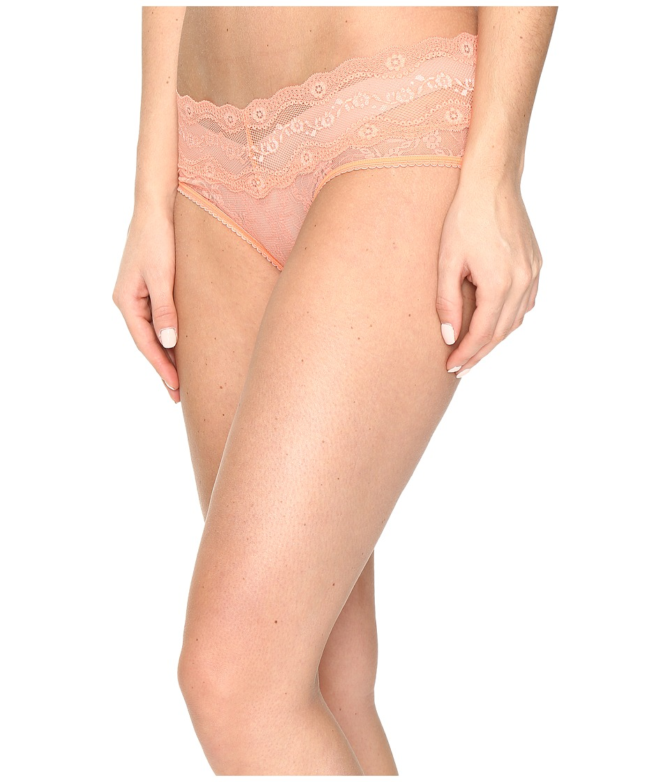 b.tempt'd - Lace Kiss Hipster (Fusion Coral) Women's Underwear