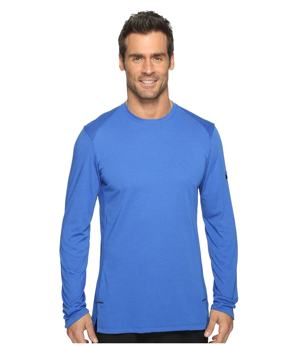 Nike - Elite Long Sleeve Basketball Top (Game Royal/Black) Men's Clothing