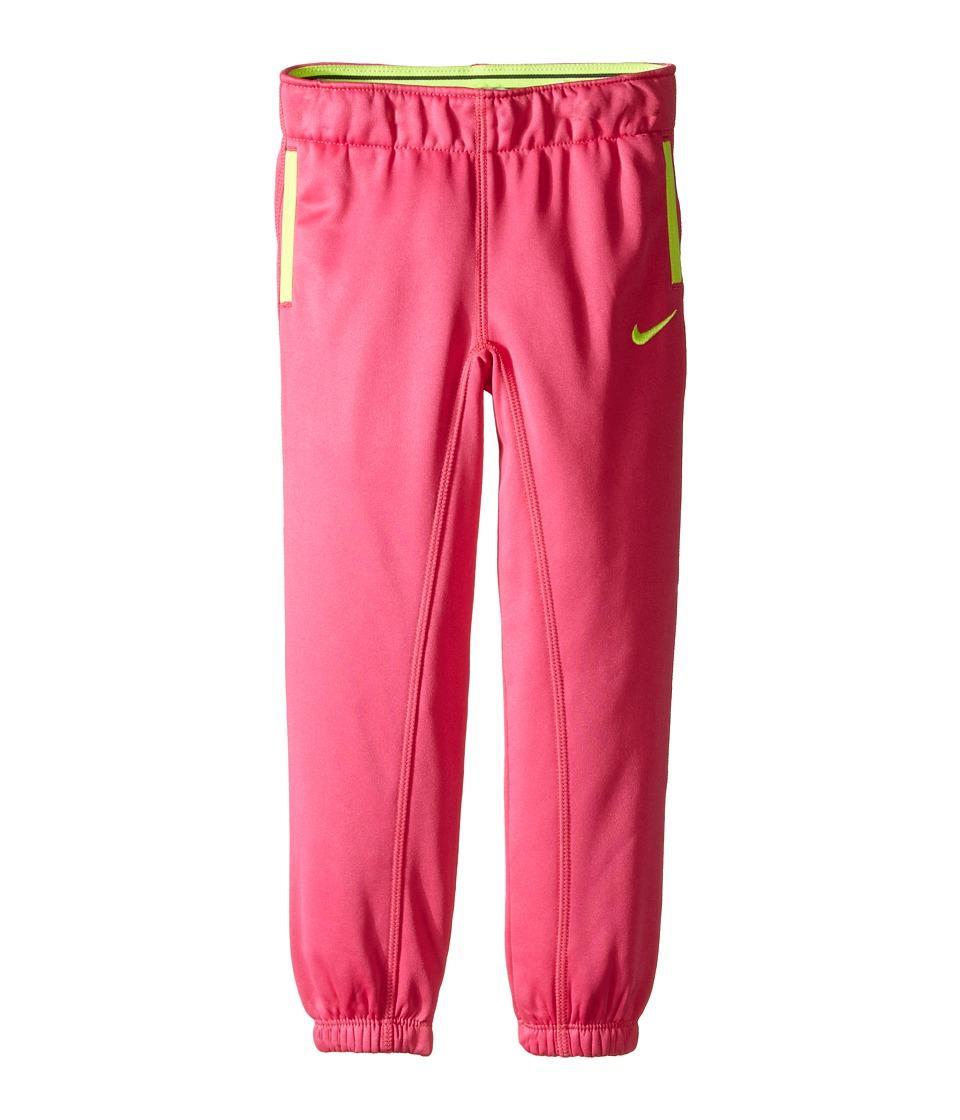 Nike Kids - Thermal Pants At Cuff (Toddler) (Vivid Pink) Girl's Casual Pants