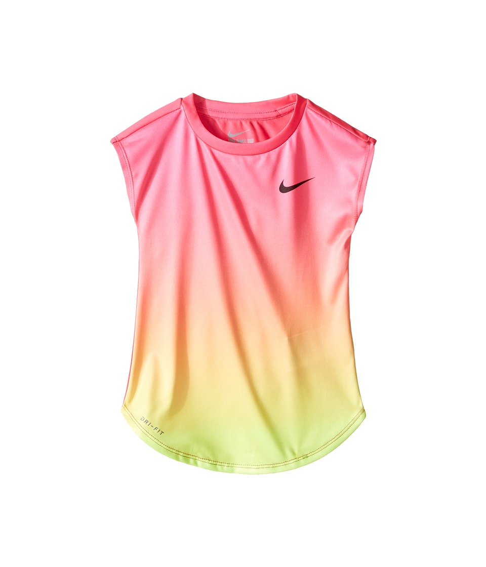 Nike Kids - Ombre Dri-FIT Modern Tee (Toddler) (Hyper Pink) Girl's Clothing