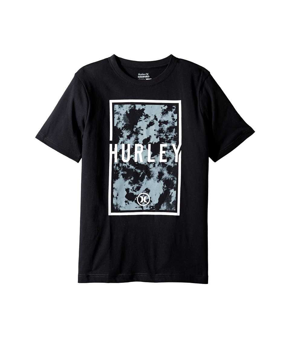 Hurley Kids - Cloudy Tee (Big Kids) (Black) Boy's T Shirt