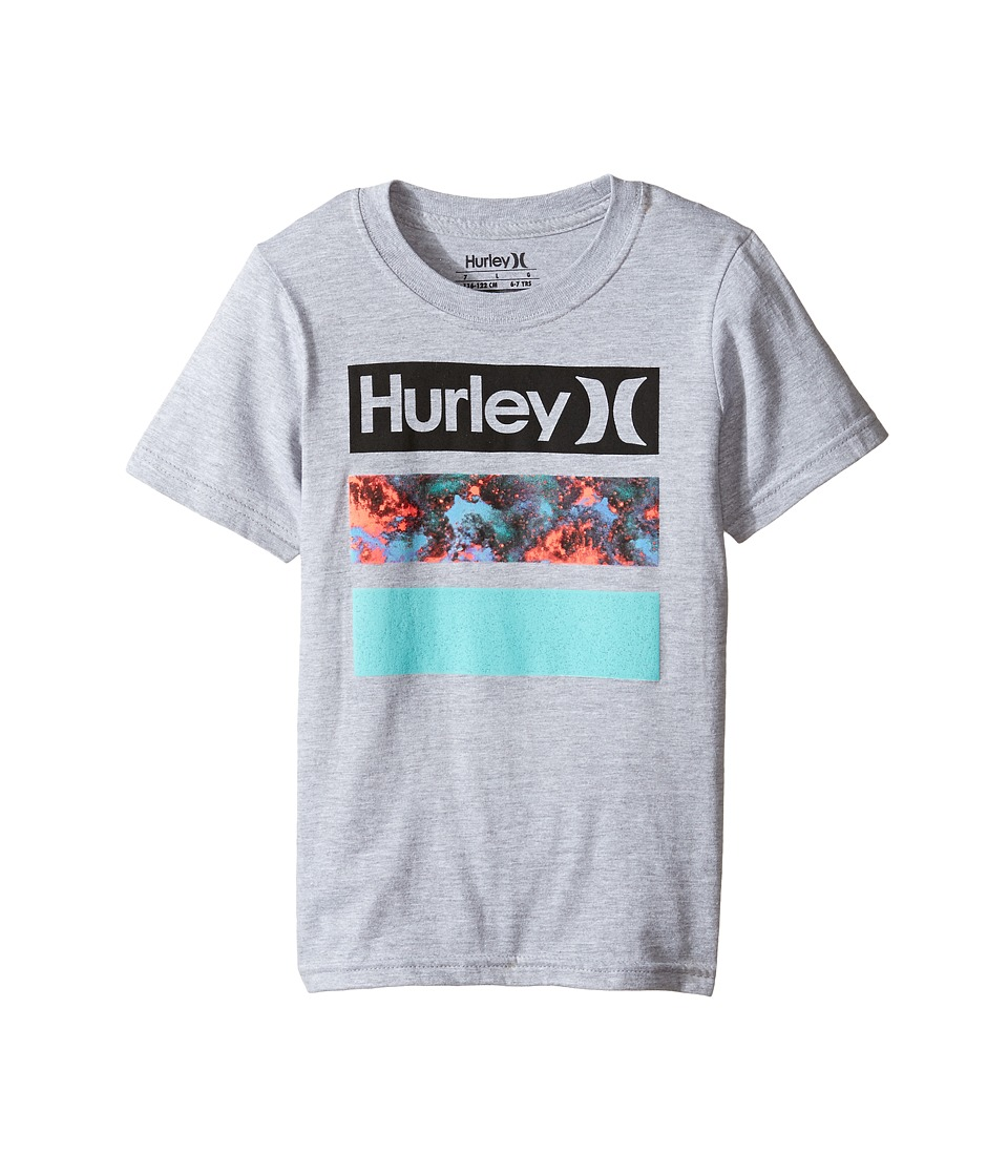 Hurley Kids - Take Flight Tee (Little Kids) (Dark Grey Heather) Boy's T Shirt