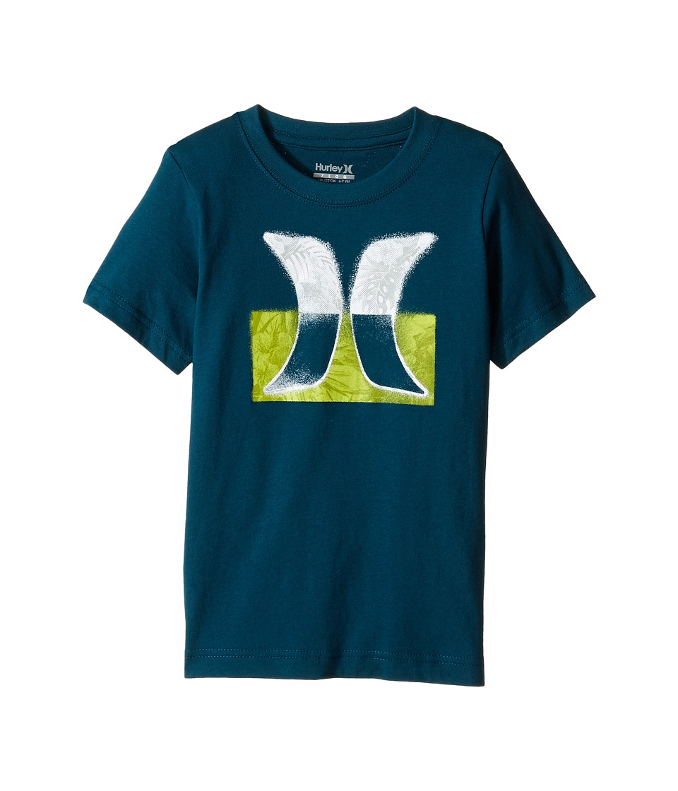 Hurley Kids - Overspray Tee (Little Kids) (Midnight Turquoise) Boy's T Shirt
