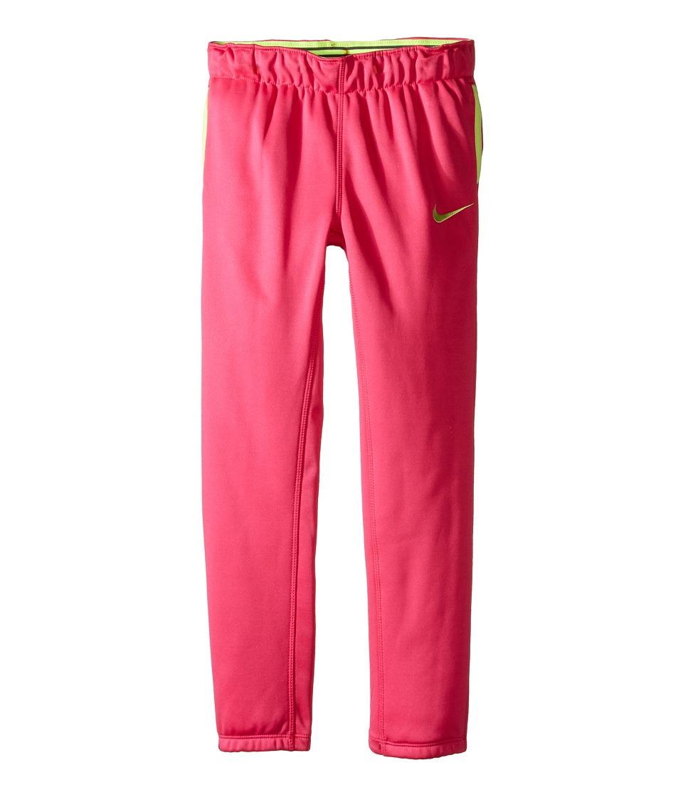 Nike Kids - Thermal Pants At Cuff (Little Kids) (Vivid Pink) Girl's Casual Pants