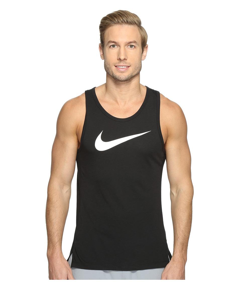 Nike - Dry Elite Basketball Tank (Black/Black/Black/White) Men's Sleeveless