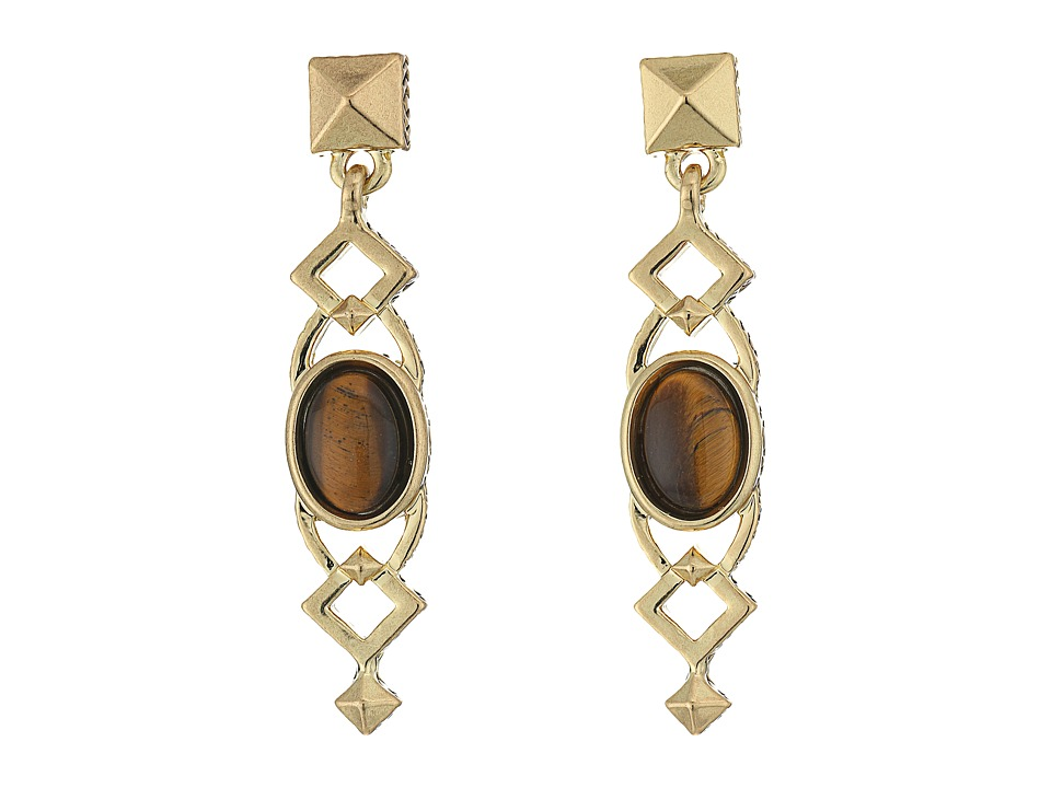 House of Harlow 1960 - Lady Grace Drop Earrings (Tiger's Eye) Earring