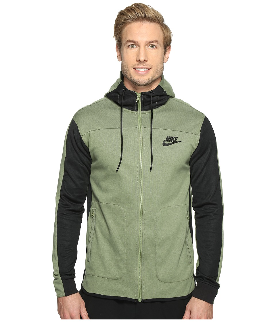 Nike - Advantage 15 Full-Zip Fleece Hoodie (Palm Green/Black/Black/Black) Men's Clothing