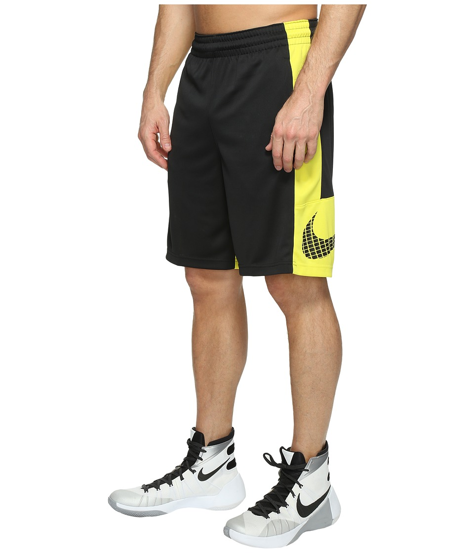 Nike - Basketball Short (Black/Electrolime/Black/Black) Men's Shorts