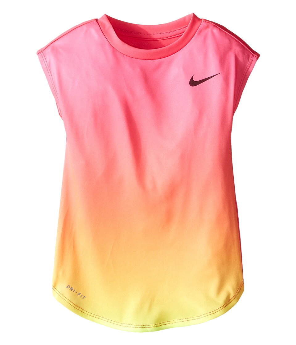 Nike Kids - Ombre Dri-FIT Modern Tee (Little Kids) (Hyper Pink) Girl's T Shirt