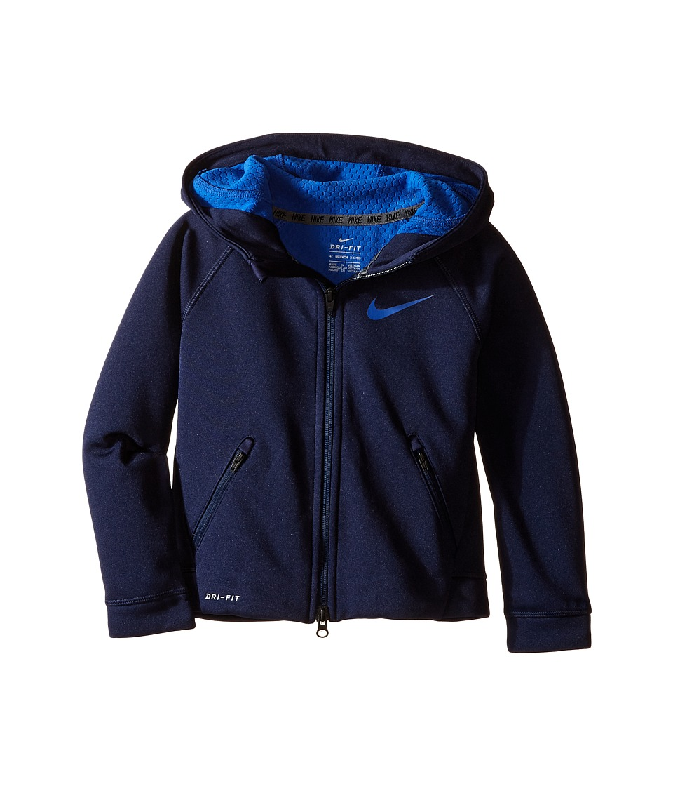 Nike Kids - Thermal Sphere Full Zip Hoodie (Toddler) (Obsidian) Boy's Sweatshirt