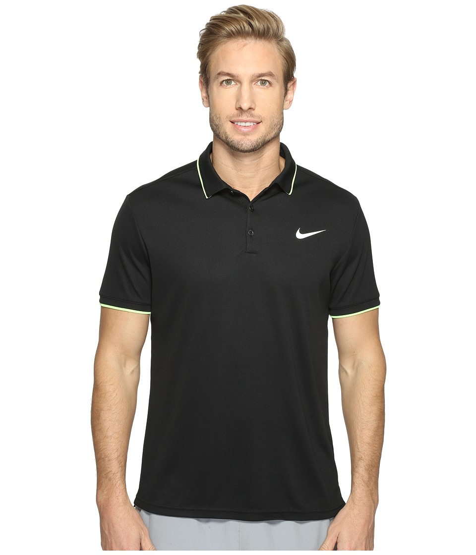 Nike - Court Dry Tennis Polo (Black/Black/Ghost Green/White) Men's Clothing