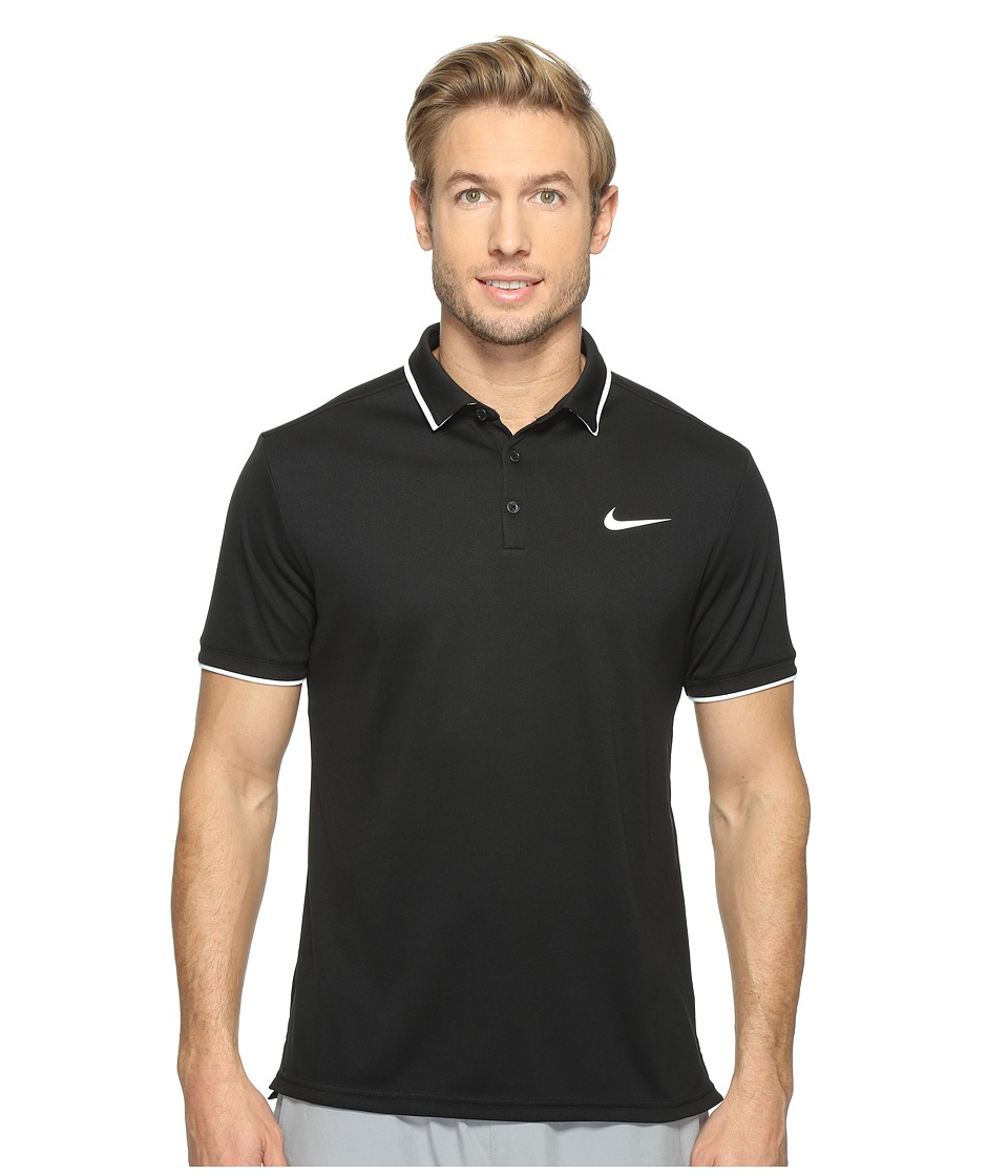 Nike - Court Dry Tennis Polo (Black/White/Cool Grey/White) Men's Clothing