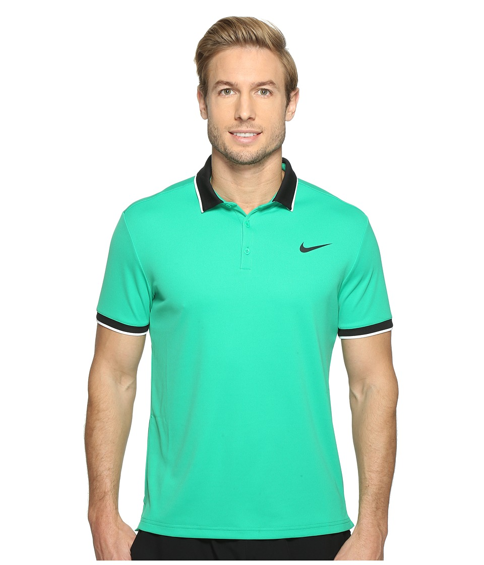 Nike - Court Dry Tennis Polo (Stadium Green/Black/White/Black) Men's Clothing