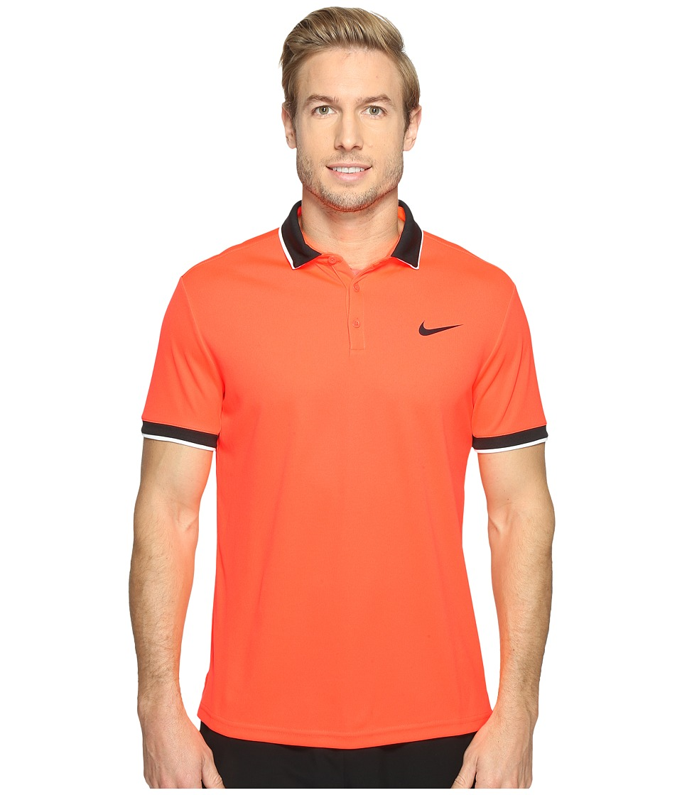 Nike - Court Dry Tennis Polo (Hyper Orange/Black/White/Black) Men's Clothing