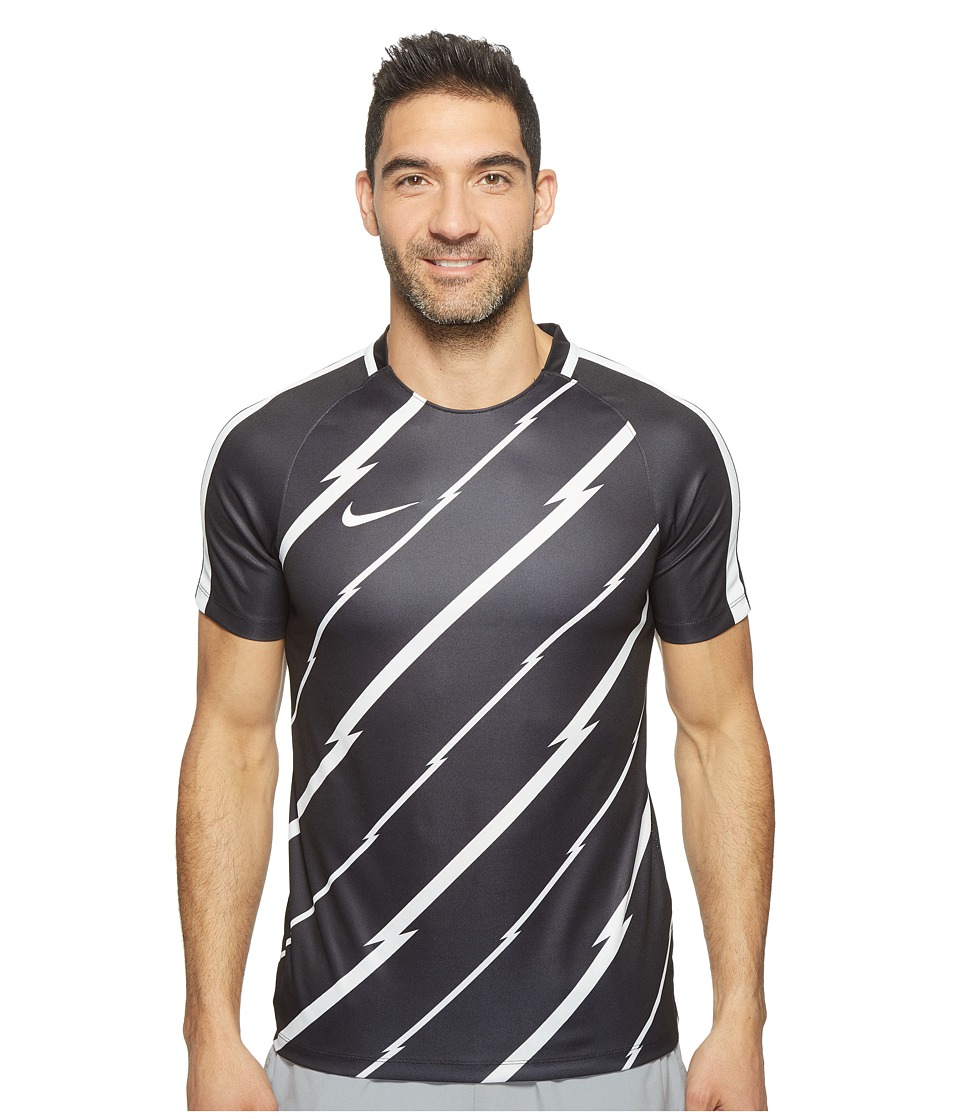 Nike - Dry Squad Short Sleeve Soccer Top (Black/White/White) Men's Clothing