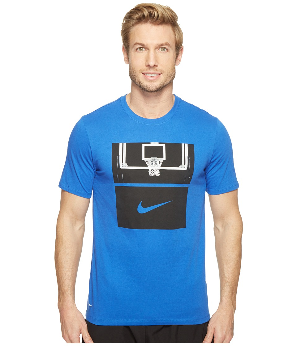 Nike - Dry Basketball Hoop T-Shirt (Game Royal/Game Royal/Black) Men's T Shirt