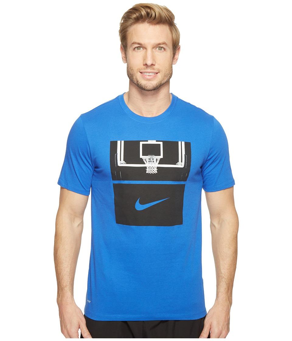 Nike - Dry Basketball Hoop T-Shirt (Game Royal/Game Royal/Black) Men's T Shirt