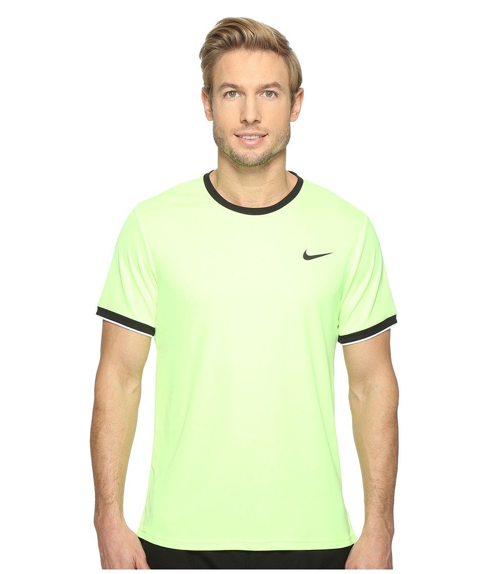 Nike - Court Dry Team Crew (Ghost Green/Black/White/Black) Men's Clothing