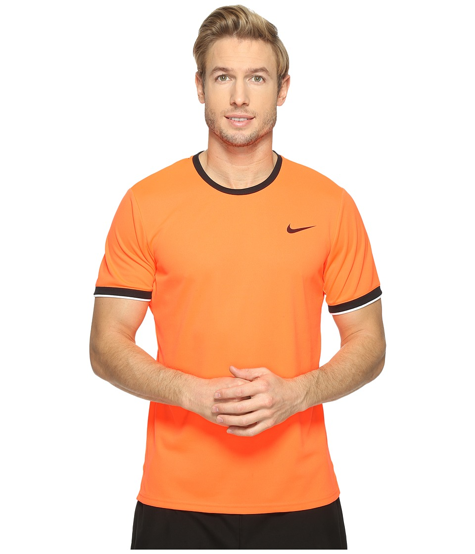 Nike - Court Dry Team Crew (Hyper Orange/Black/White/Black) Men's Clothing