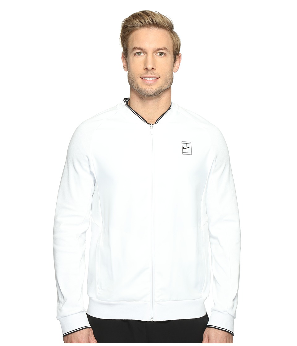 Nike - Court Tennis Jacket (White/Black) Men's Coat