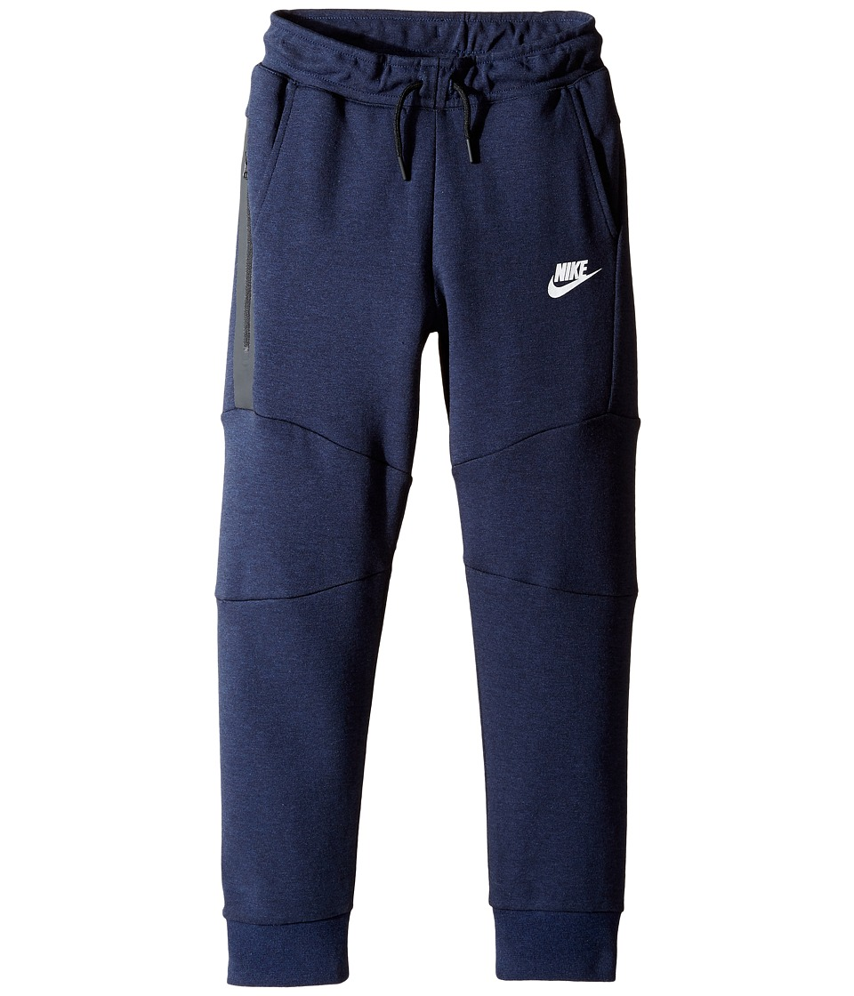 Nike Kids - Tech Fleece Pants (Little Kids) (Obsidian Heather) Boy's Casual Pants