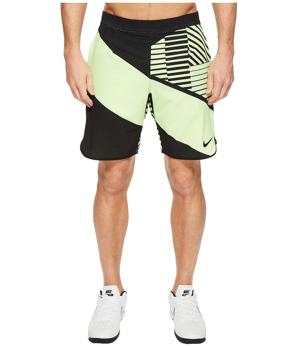 Nike - Court Flex 9 Printed Tennis Short (Ghost Green/Black) Men's Shorts