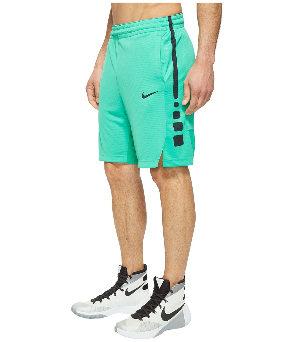 Nike - Elite Stripe Basketball Short (Stadium Green/Stadium Green/Black/Black) Men's Shorts