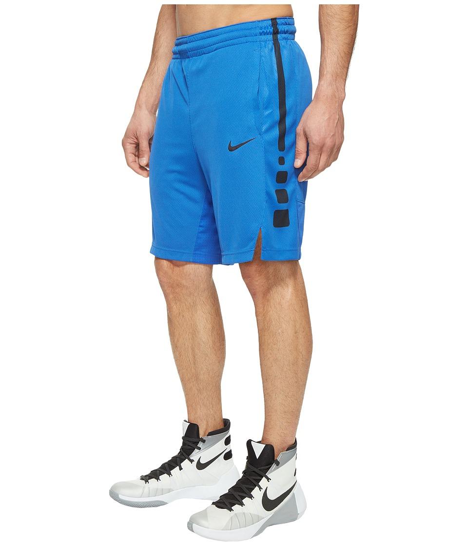 Nike - Elite Stripe Basketball Short (Game Royal/Game Royal/Black/Black) Men's Shorts