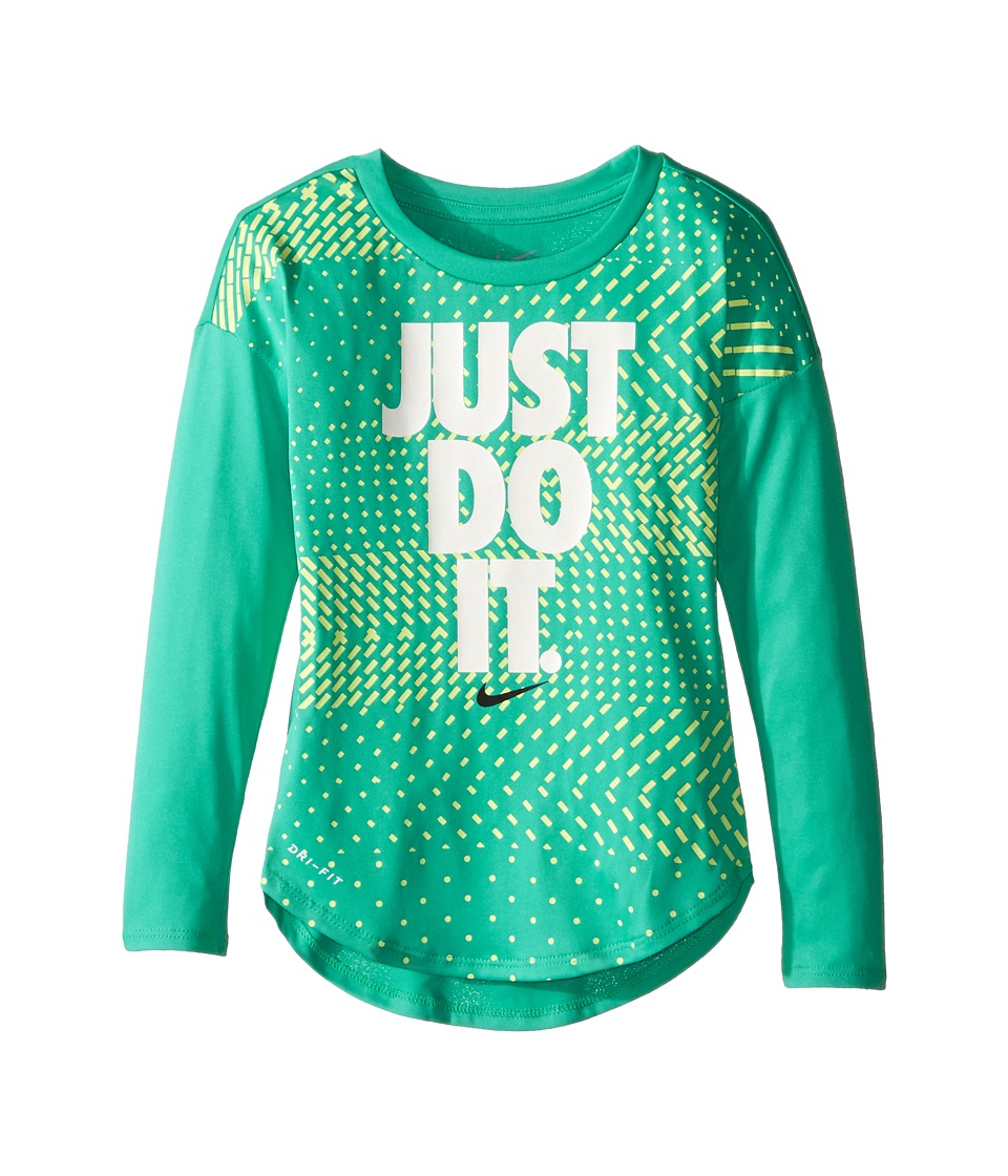 Nike Kids - Just Do It Geo Mashup Modern Tee (Toddler) (Hyper Jade) Girl's T Shirt