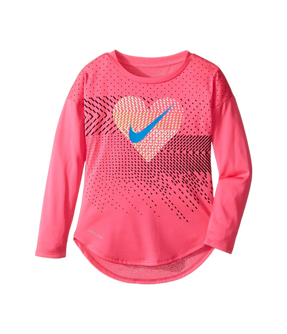 Nike Kids - Heart Geo Mashup Modern Tee (Toddler) (Hyper Pink) Girl's T Shirt