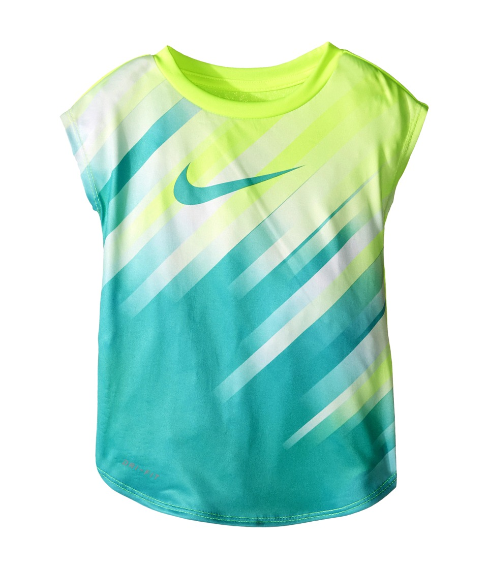 Nike Kids - Speed Line Dri-FIT Short Sleeve Tee (Toddler) (Volt) Girl's Clothing