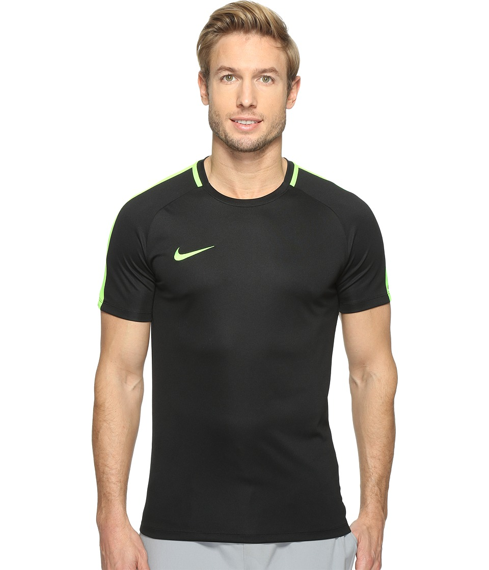 Nike - Dry Academy Soccer Shirt (Black/Electric Green/Electric Green) Men's Clothing