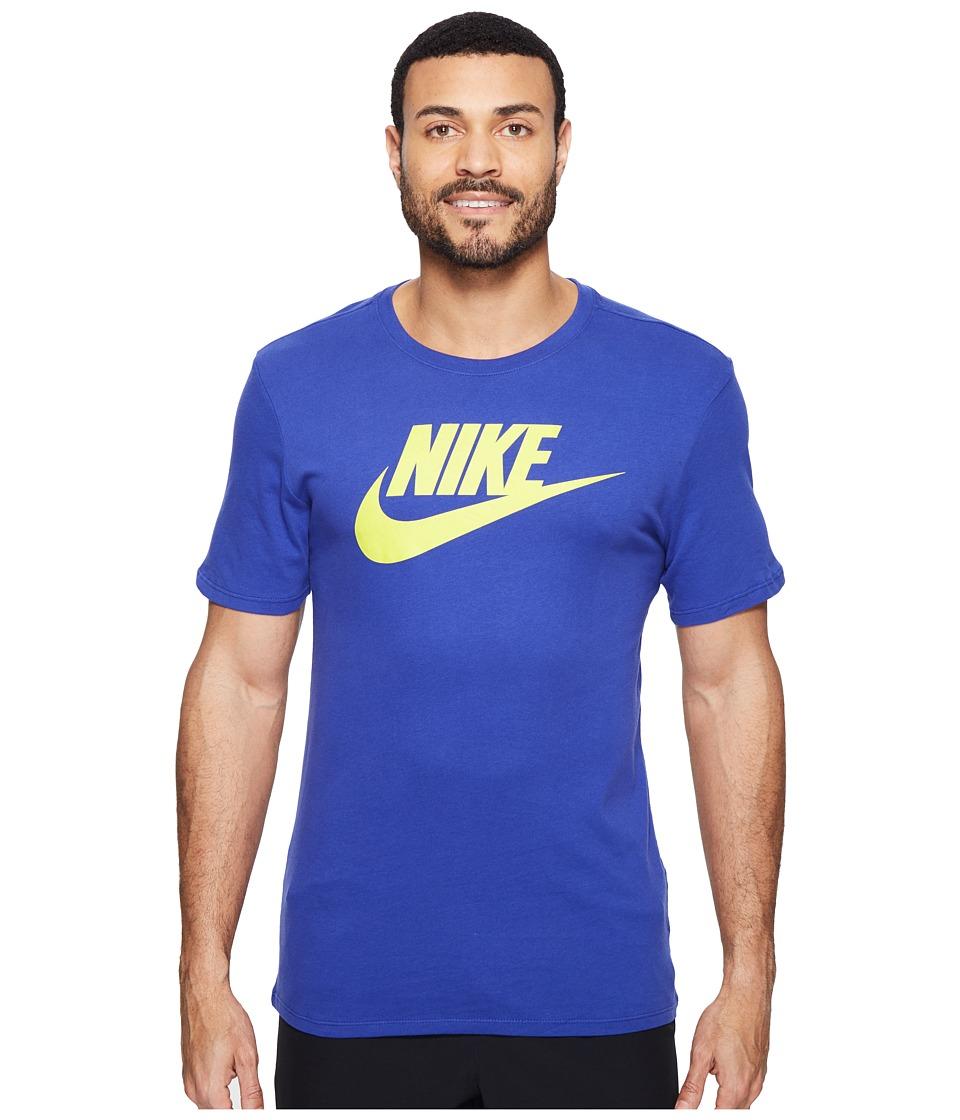 Nike - Futura Icon S/S Tee (Deep Night/Electrolime) Men's T Shirt