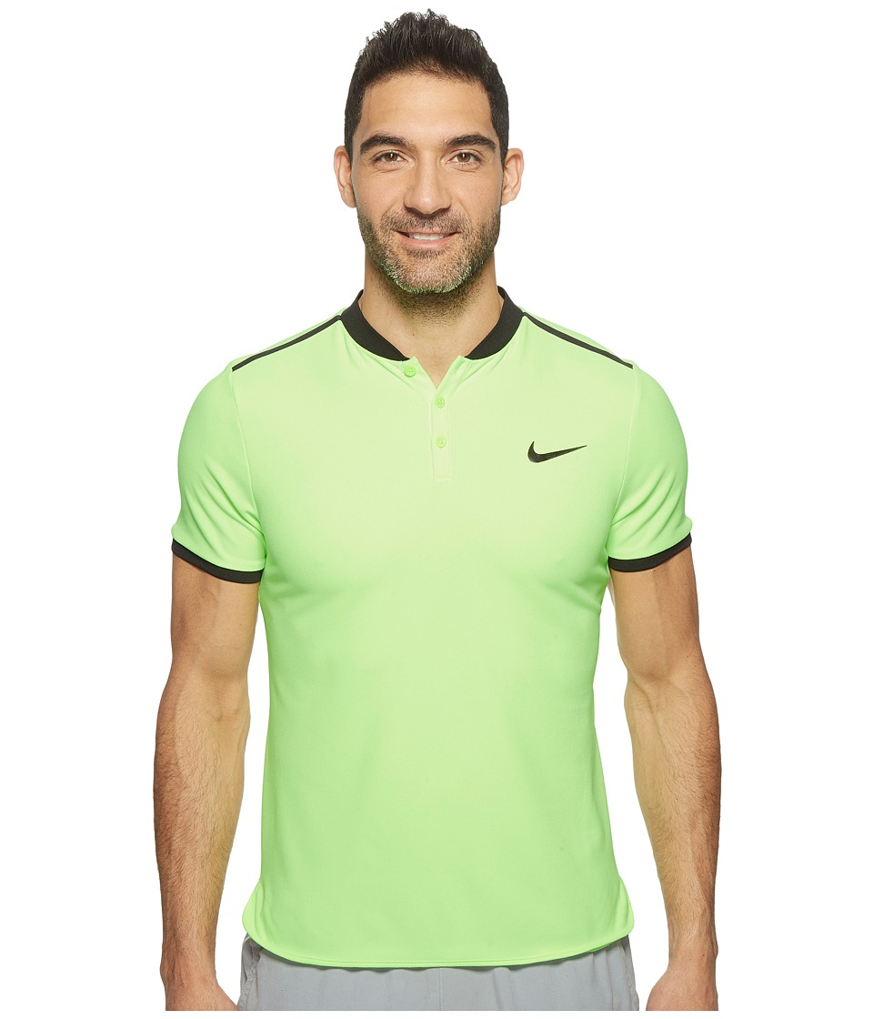 Nike - Court Advantage Modern Fit Tennis Polo (Ghost Green/Black) Men's Clothing