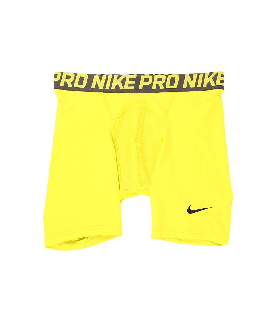 "Nike Pro Cool Compression 6"" Short (Electrolime/Midnight Fog/Black) Men"