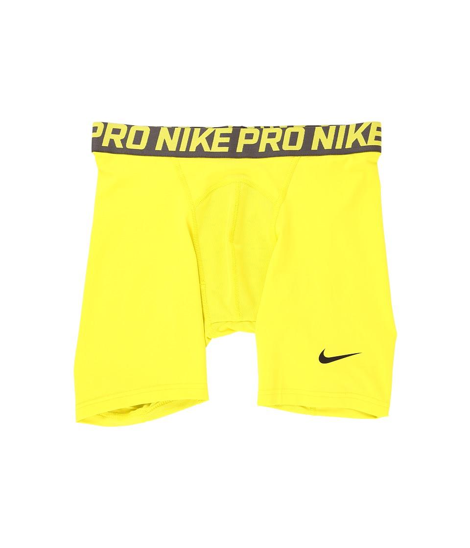 "Nike - Pro Cool Compression 6"" Short (Electrolime/Midnight Fog/Black) Men's Shorts"