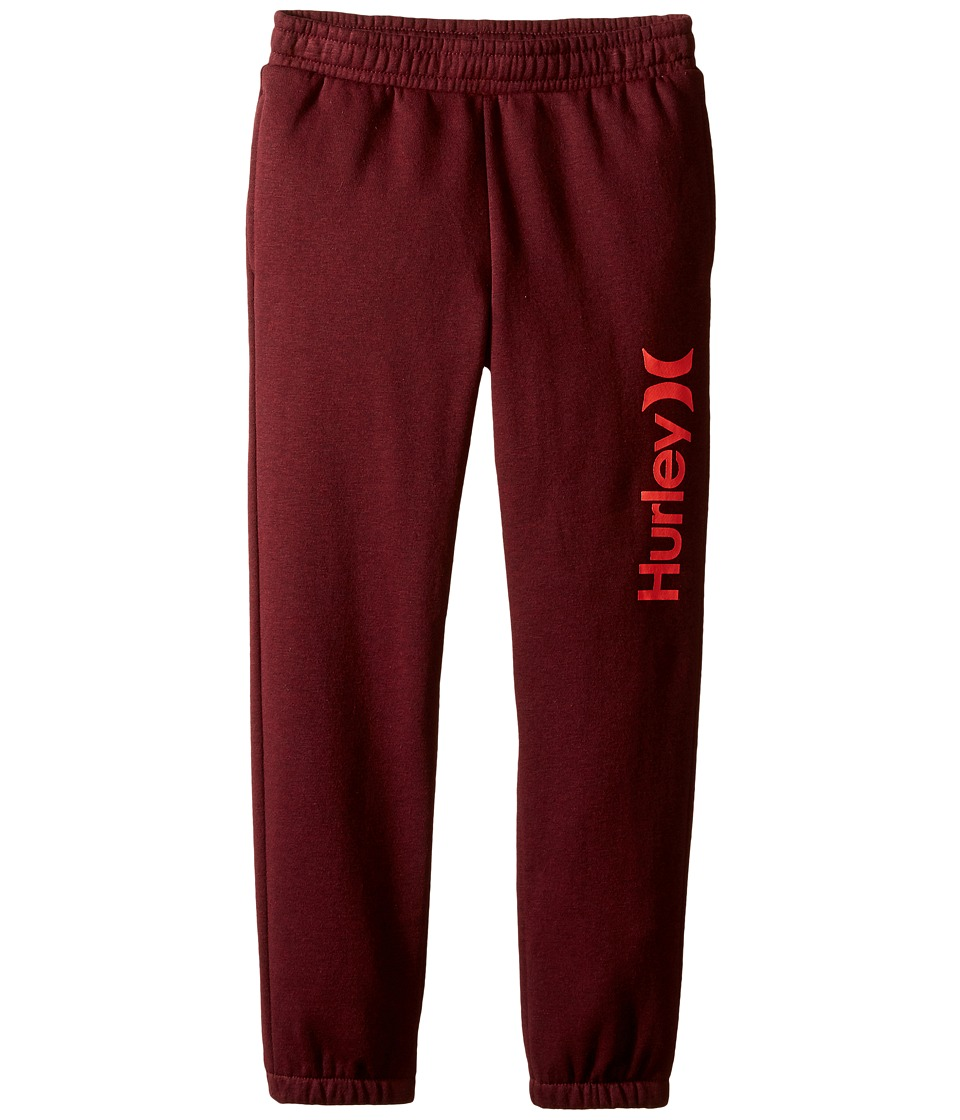 Hurley Kids - Core Jogger (Little Kids) (Night Maroon Heather) Boy's Casual Pants