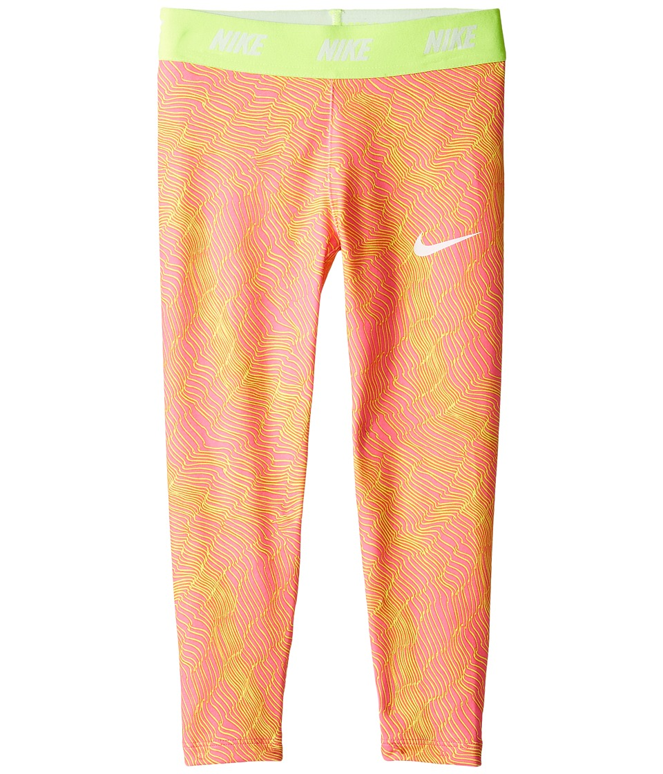 Nike Kids - Dri-FIT Sport Essentials Print Legging (Little Kids) (Hyper Pink) Girl's Casual Pants