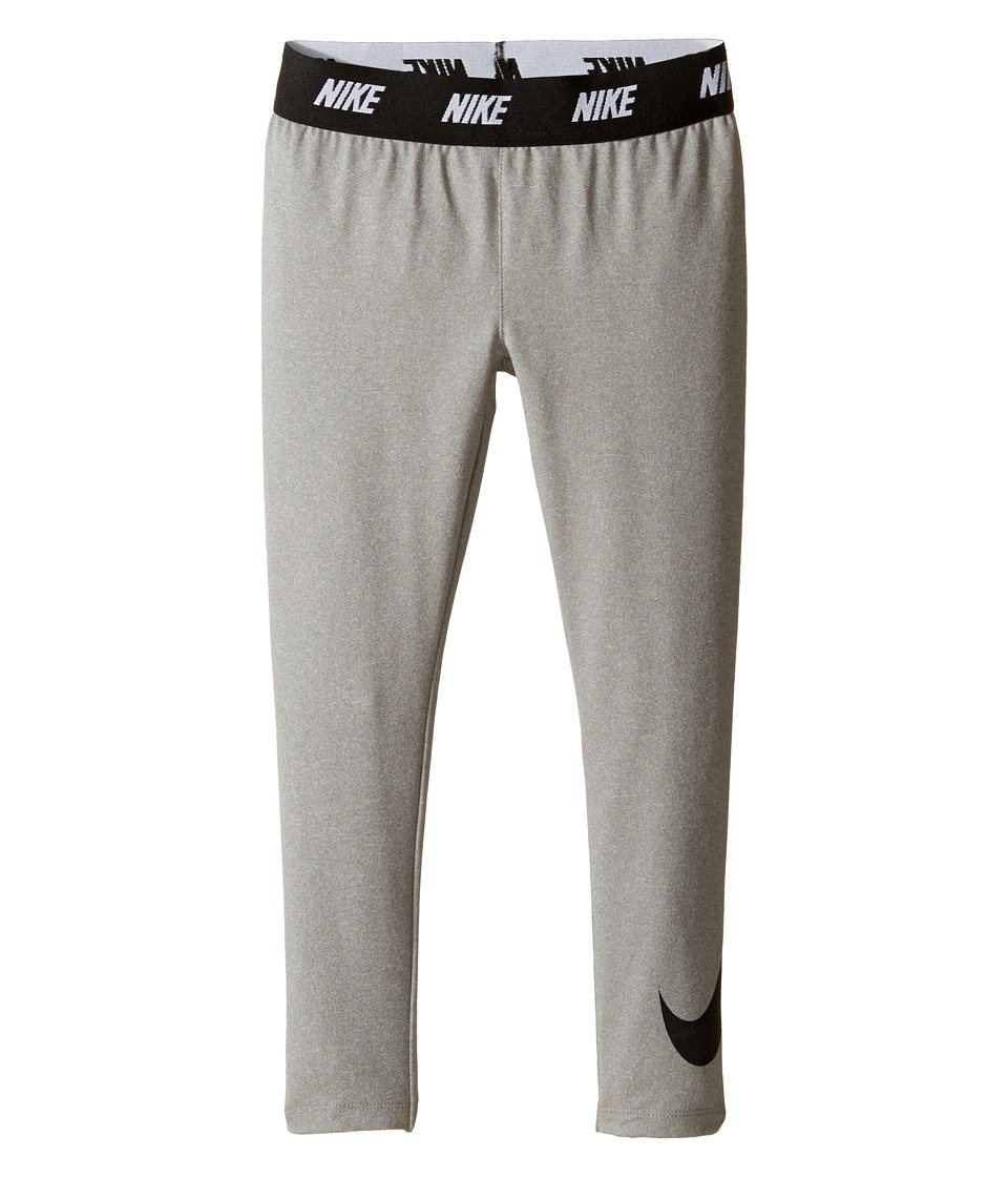 Nike Kids - Sport Essentials Printed Leggings (Little Kids) (Dark Grey Heather) Girl's Casual Pants