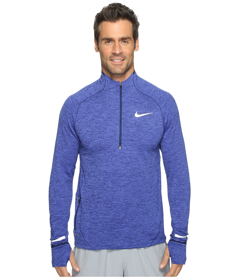 Nike - Element Sphere Half-Zip (Binary Blue/Heather/Reflective Silver) Men's Long Sleeve Pullover