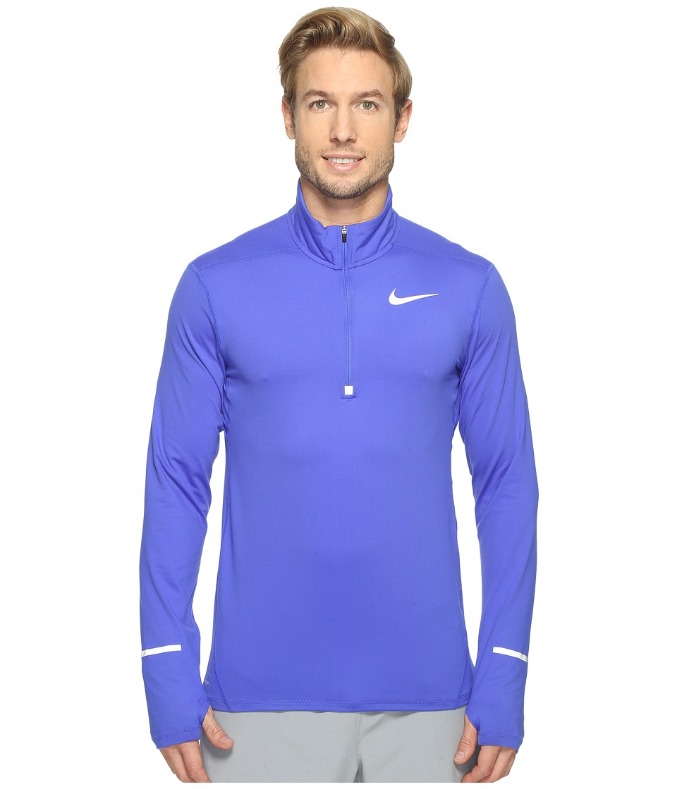 Nike - Dry Element Long Sleeve Running Top (Paramount Blue/Reflective Silver) Men's Long Sleeve Pullover