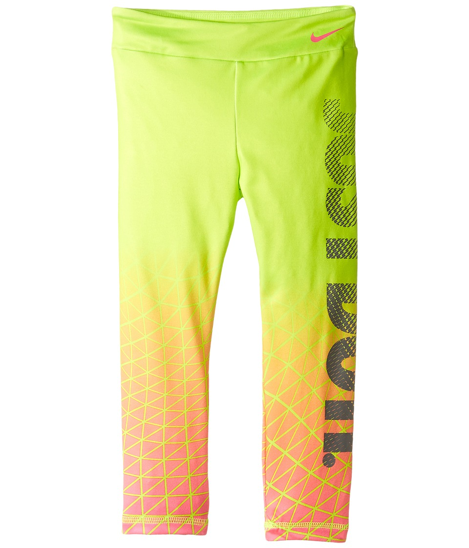 Nike Kids - Dri-FIT Sport Essential Legging (Toddler) (Volt) Girl's Casual Pants