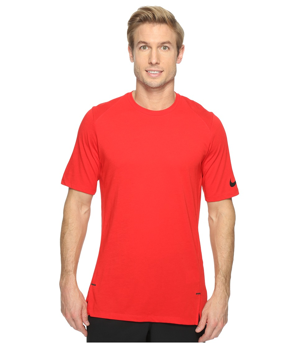 Nike - Elite Short Sleeve Basketball Top (University Red/University Red/Black) Men's Clothing