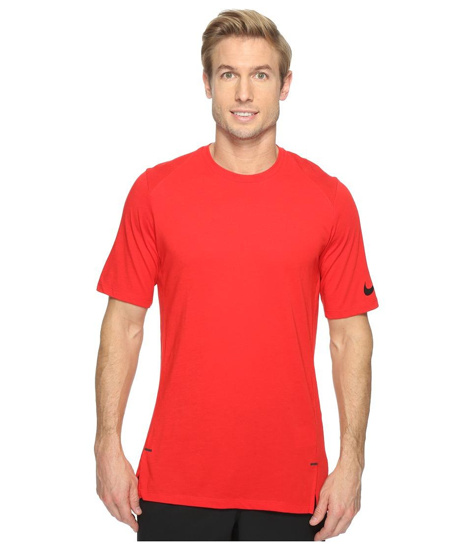Nike - Elite Short Sleeve Basketball Top (University Red/University Red/Black) Men's Clothing